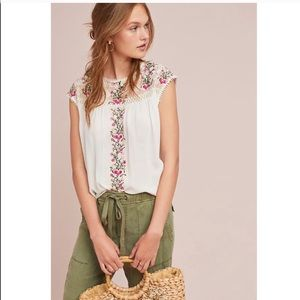 NWT Anthropologie Ranna Gill embroidered top